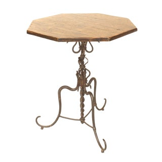 Spanish Renaissance Walnut End Table For Sale