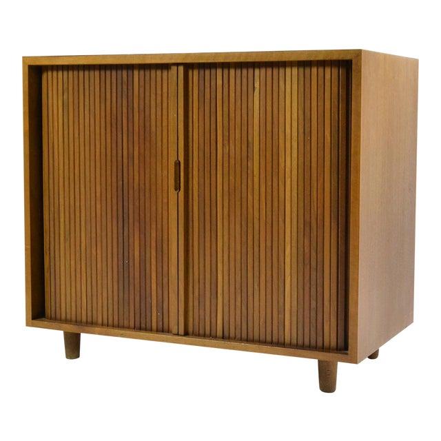 World Class Milo Baughman Tambour Door Cabinet By Glenn Of