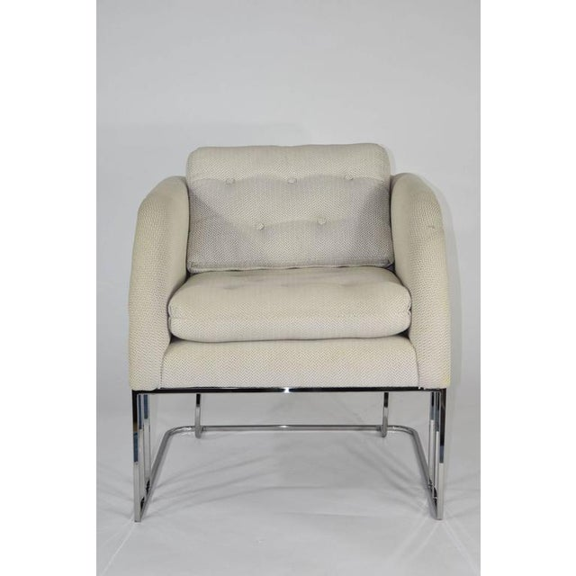 White Milo Baughman for Thayer Coggin Lounge Chair For Sale - Image 8 of 8