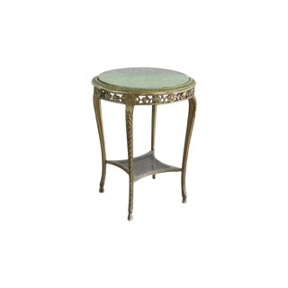 French Marble Top Side Table For Sale
