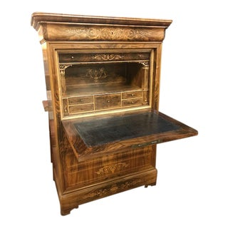 1810 Highly Inlaid Dau Abbatant Secretarie Desk For Sale