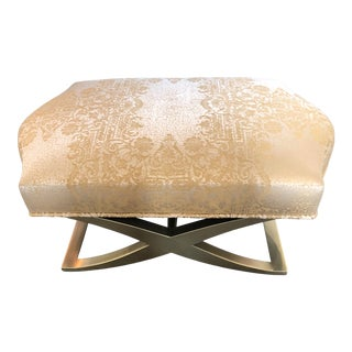 Donghia Versaillies Bench on Gold Wood Base For Sale