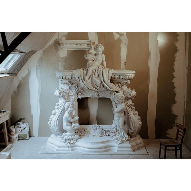 French Baroque Style Modern Mantel For Sale - Image 10 of 10