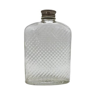 1920s Universal Glass 1927 Art Deco Hip Flask For Sale