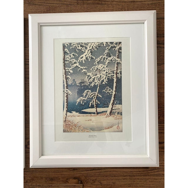1990s Framed Japanese Woodblock Reproduction Prints After Kawase Hasui - Set of 3 For Sale - Image 5 of 13