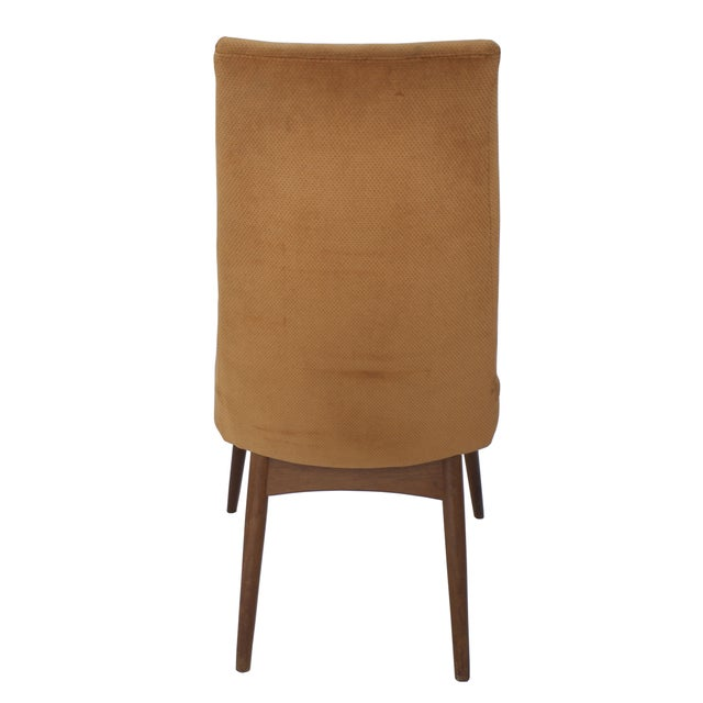 Mid-Century Orange Velvet Accent Chair For Sale - Image 4 of 5