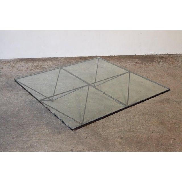 1980s Paolo Piva Alanda Geometric Glass Coffee Table for B&b Italia, 1980s, Italy For Sale - Image 5 of 13