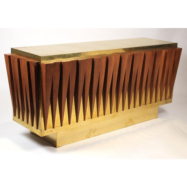 1970s Custom Paolo Buffa Attributed Credenza for Hotel in Italy For Sale - Image 10 of 10
