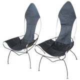 Image of Pair of Vintage Tony Paul Sling Chairs For Sale