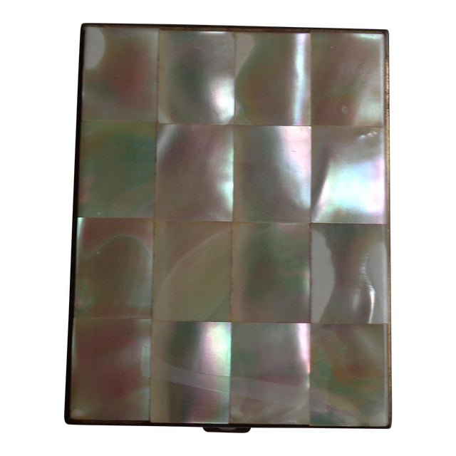 Vintage Mother of Pearl & Brass Compact - Image 1 of 6