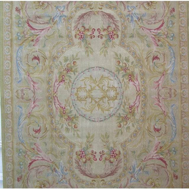 "Savonnerie Area Rug-10'0"" X 8'0"" For Sale - Image 4 of 6"