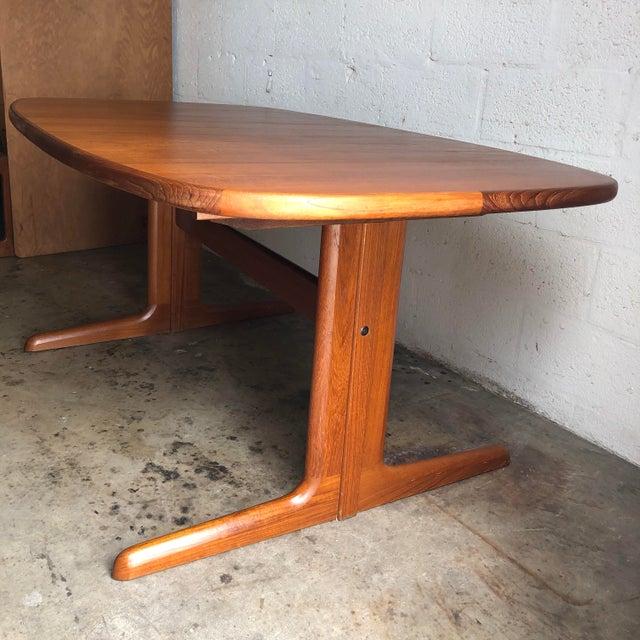 Wood Vintage Mid-Century Danish Modern Extendable Dining Table by Skovby Mobelfabrik Denmark For Sale - Image 7 of 13