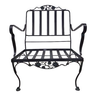Lee L. Woodard Sons Daisy Wrought Iron Patio Arm Chair