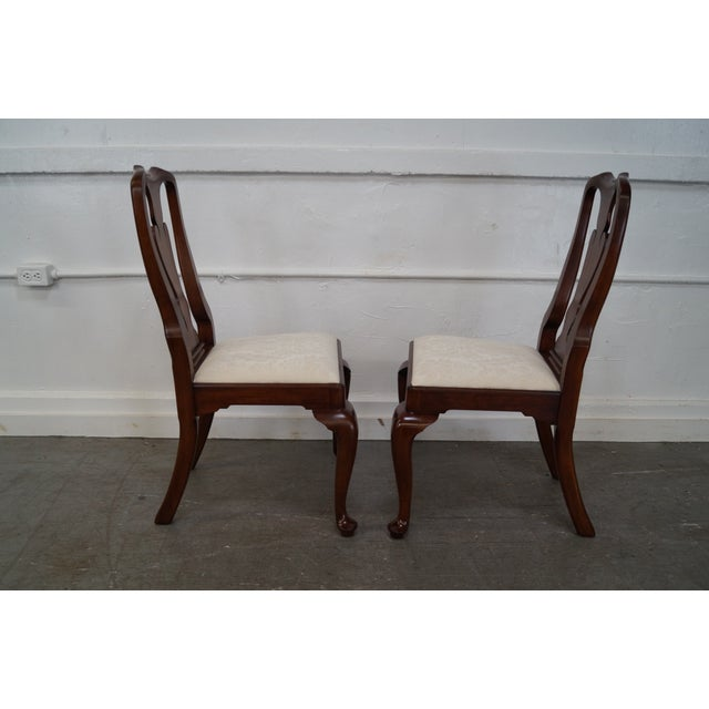 Henkel Harris Cherry Wood Queen Anne Chairs - 6 - Image 9 of 10