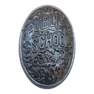 Art Deco Public School, City of New York Door Knob For Sale