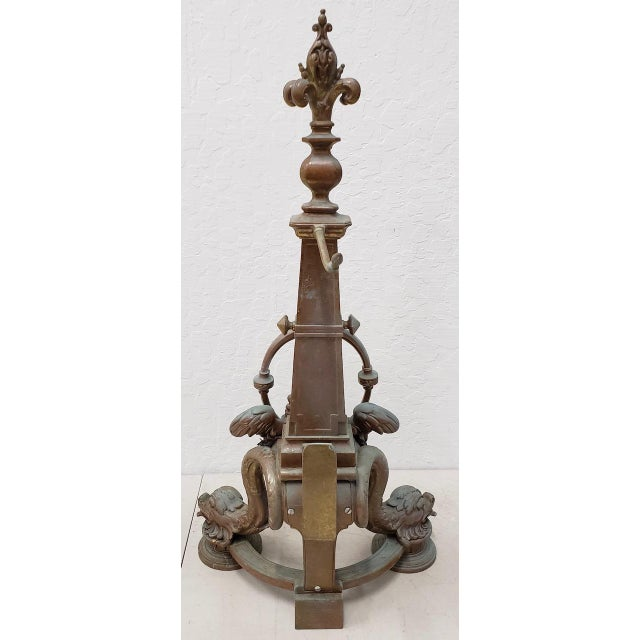 Late 19th Century French Baroque Bronze Chenets / Andirons - a Pair For Sale In San Francisco - Image 6 of 12