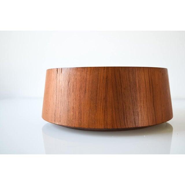 Large Danish Modern Wooden Dansk Teak Bowl For Sale In Detroit - Image 6 of 6