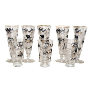 Libbey Antique Cars Glasses - Set of 8