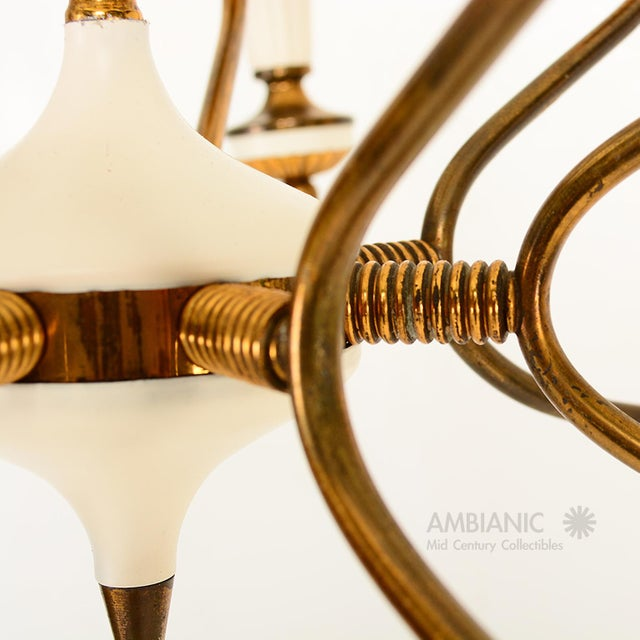 Gold 16 Arm Italian Chandelier For Sale - Image 8 of 10