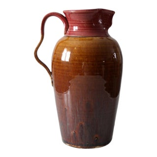 Ca. 1983 Studio Pottery Pitcher For Sale
