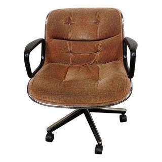 Knoll Pollock Executive Chairs in Beige Mohair