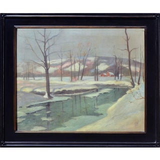 A Winters Night by Frederick Wagner For Sale