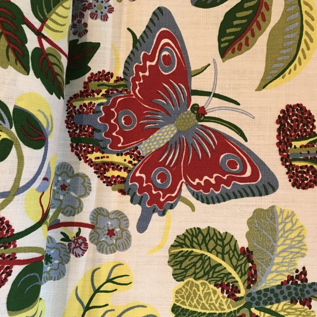 Schumacher Exotic Butterfly Print Fabric 13 1/2 Yards For Sale - Image 9 of 10