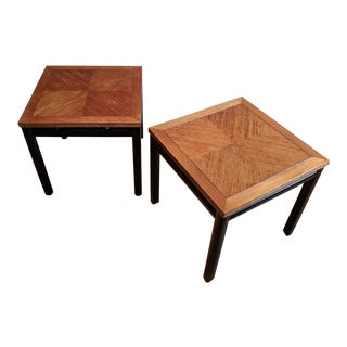 Circa 1960 Michael Taylor for Baker Furniture Mid-Century Modern Side Tables - A Pair