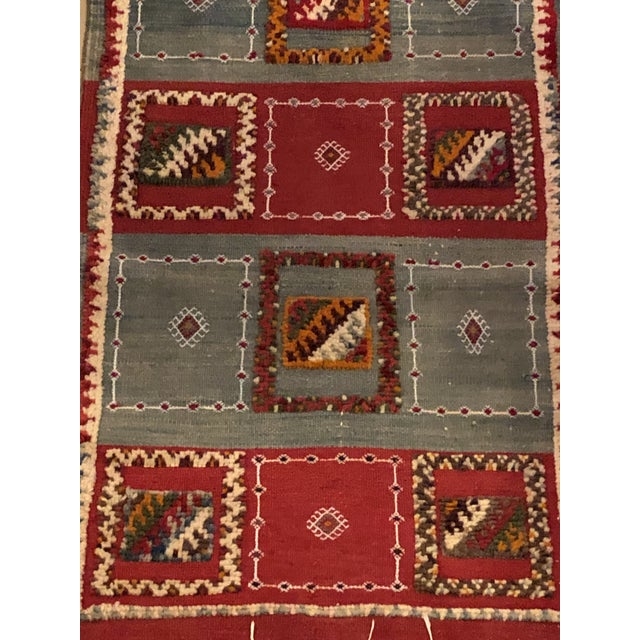 """Berber Abstract and Geometric Rug-3'x6'2"""" For Sale - Image 4 of 6"""