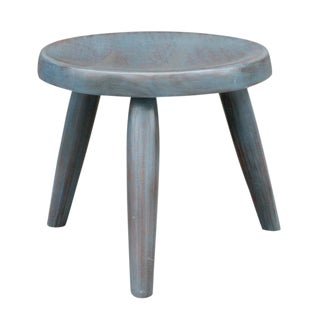 Petite Blue Painted Side Table