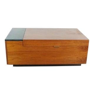 West Elm Hyde Storage Coffee Table in Walnut For Sale