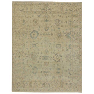 Contemporary Oushak Inspired Area Rug - 7′11″ × 10′1″ For Sale
