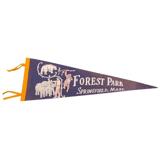 Forest Park Springfield Mass Zoo Felt Flag - Image 1 of 3