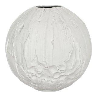 Hutschenreuther Textured White Porcelain Vase For Sale