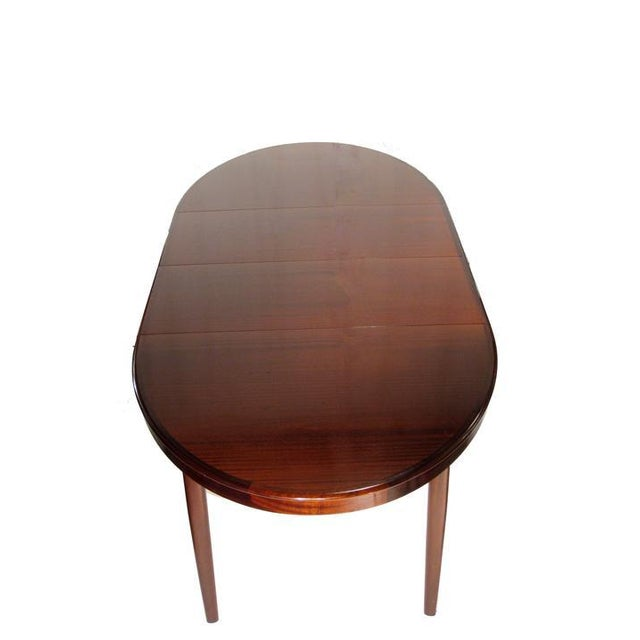 Danish Modern h.w. Klein Rosewood Dining Table W/ Two Leaves and Six Highback Chairs For Sale - Image 3 of 4