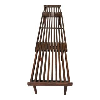John Keal for Brown Saltman Mid-Century Modern Slat Bench Expandable