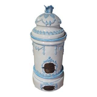 Late 19th Century Antique French Louis XVI Style Kachelofen Ceramic Stove For Sale