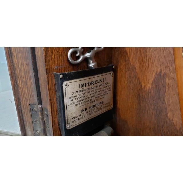 "Metal Vintage ""International Time Recording"" Time Clock C.1930s For Sale - Image 7 of 8"