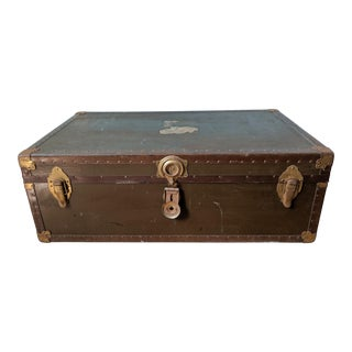 1950s Vintage College Dorm Footlocker/ Trunk For Sale