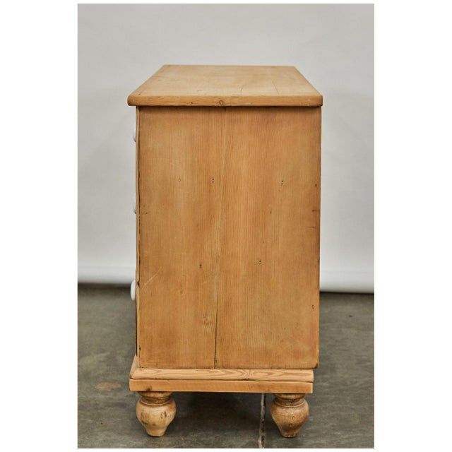 Mid 19th Century Bleached Pine Victorian Chest of Drawers For Sale - Image 5 of 8