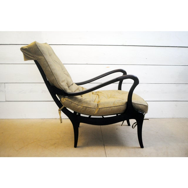 Pair of two lounge chairs with a new upholstery. The structure is original from 1950's. Pure and organic general line....