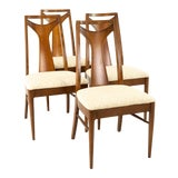 Image of Kent Coffey Perspecta Mid Century Walnut Dining Chairs - Set of 4 For Sale