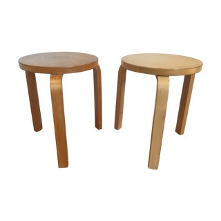 Alvar Aalto Stacking Stools - A Pair