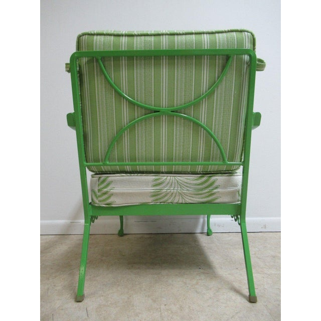 Aluminum Vintage Green Aluminum Chippendale Ball & Claw Patio Chair For Sale - Image 7 of 11