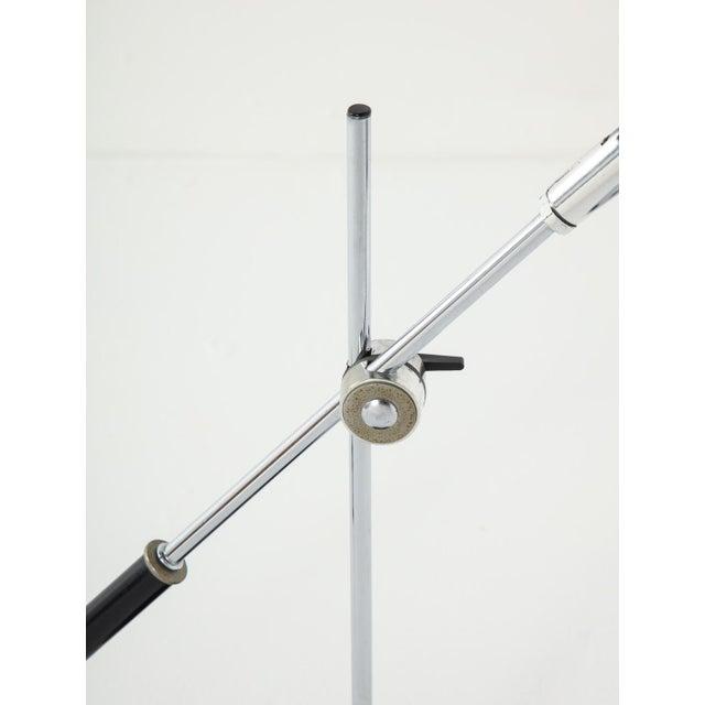 Chrome Midcentury Adjustable Desk Lamp For Sale - Image 4 of 13