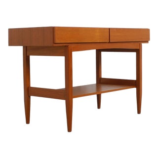 Danish Modern Teak Console Table For Sale