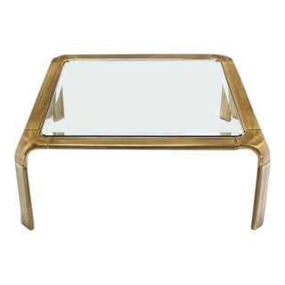 Widdicomb Modern Brass Square Coffee Table For Sale