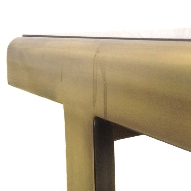 Antique Brass & Glass Extendable Dining Table - Image 3 of 5