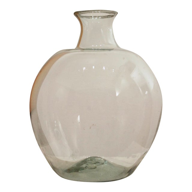 Rustic Oversize Glass Demijohn / Carboy For Sale