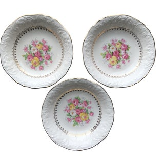 Cottage Rose Floral Berry Bowls - Set of 3